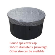 Round shape hot tub cover cap Diameter 2000mm x300 mm(H) ,can customize spa, swim spa cover bag(China)