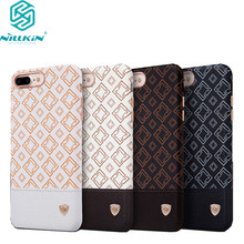 "Nillkin Oger PU Leather back Cover Case Vintage leather PC case For Apple iphone 7 plus case 5.5"" work with magnetic car holder(China)"