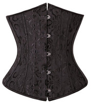 Steel Boned Waist Cincher Corsets and Bustiers Black Corset Underbust Gothic Corselet Sexy Waist Cincher Plus Size espartilho(China)