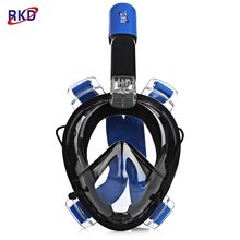 RKD Full Face Diving Mask Underwater Anti Fog Scuba Mask Snorkeling Mask Unisex Swimming Snorkel Diving Equipment 2017 NEW(China)
