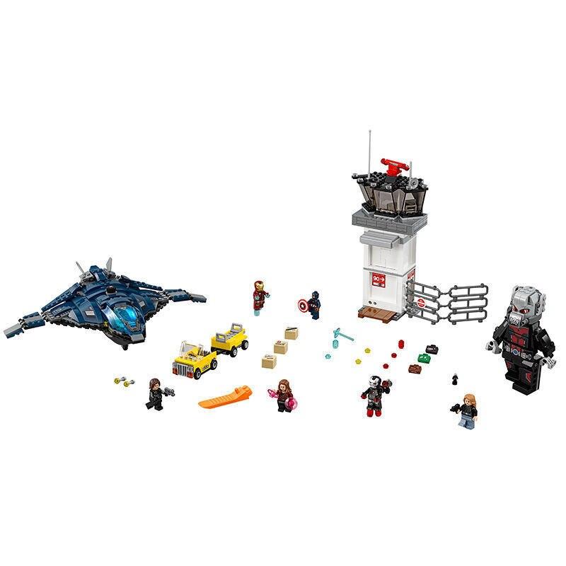 774pcs Super Heroes Captain America Civil War Airport Battle Iron Man DIY Model Building Blocks Toy Bricks lepin 07034<br>