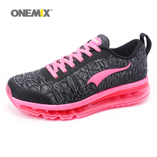 ONEMIX 2017 women's running shoes Breathable Mesh Athletic Shoes for air Cushion women Sneakers Outdoor Sneakers Run Comfortable(China)