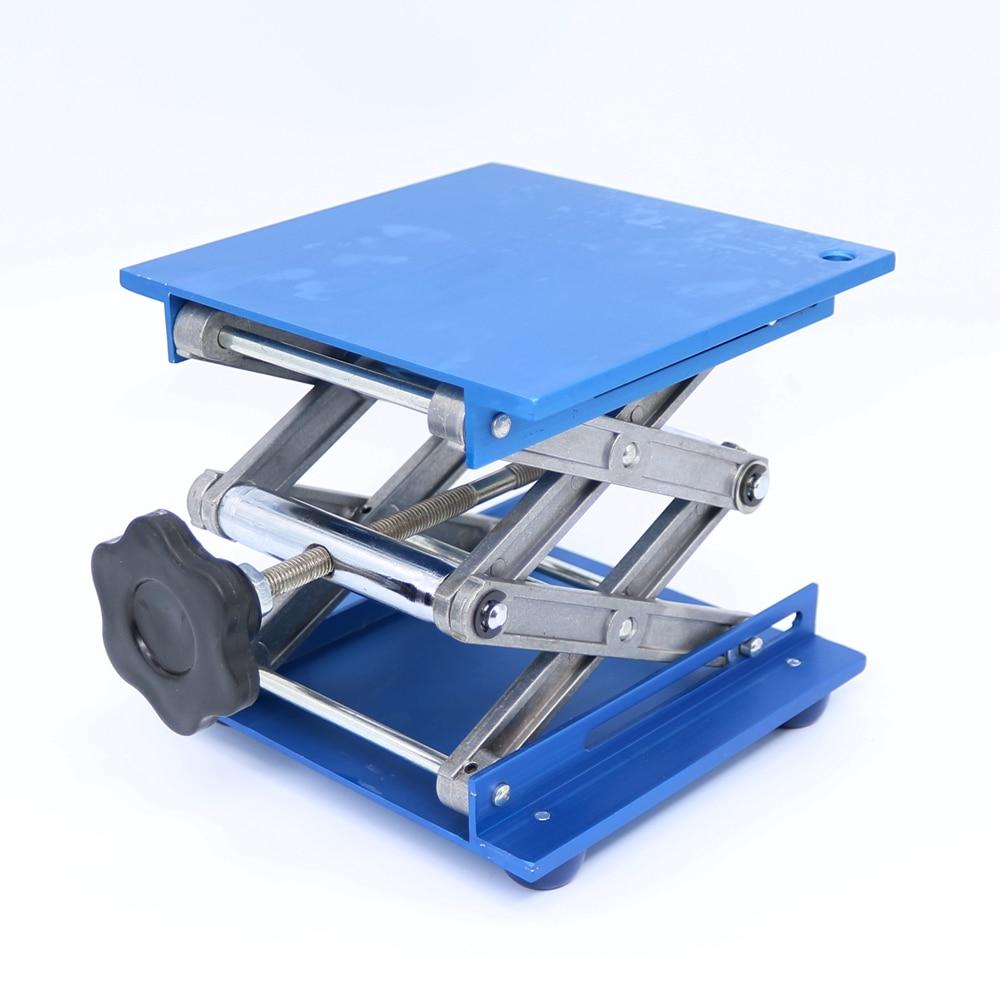 NEW 6 Aluminum Lab-Lift Lifting Platforms Stand Rack Scissor Lab Jack 150x150x250mm Free Shipping<br>