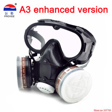 Respirator dust gas mask with glasses Labor insurance supplies Eyes nose and mouth conjoined Safety glasses protective mask(China)