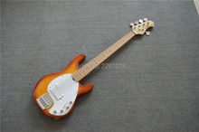 BEST 5 strings musicman bass guitar sting ray5 with maple fretboard Free shipping(China)