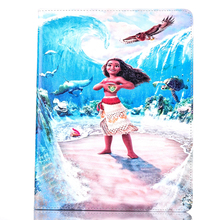 Tablet Shell Cases for Apple ipad 5 air1 Carton fashional MOANA movie prints PU leather protective Cover stand coque para capa