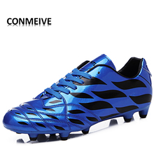 2017 Couple Soccer Shoes Brand Turf Soccer Shoes Superfly Soccer Sports Shoes Lace-up Bright Lover's chuteiras zapatos de futbol
