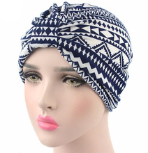 New Arrival Women Turban Hats flower Dome Hat Head Wrap Chemo Hats Bandana Hijab knotted Indian cap