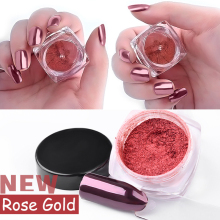 MIOBLET New 2g/Box Shinning Rose Gold Nail Mirror Powder DIY Manicure Nail Glitter Chrome Powder Magic Nails Art Decorations Hot