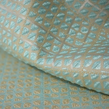 Ice blue Italian import double jacquard woven brocade Plush fabric for dress coat tissu tecido tissus au metre cheap shabby chic