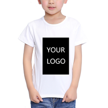 TEEHEART Customized Print T shirt 18M-10T Kid Your Own Design High Quality Send Out In 3 Days White Color(China)