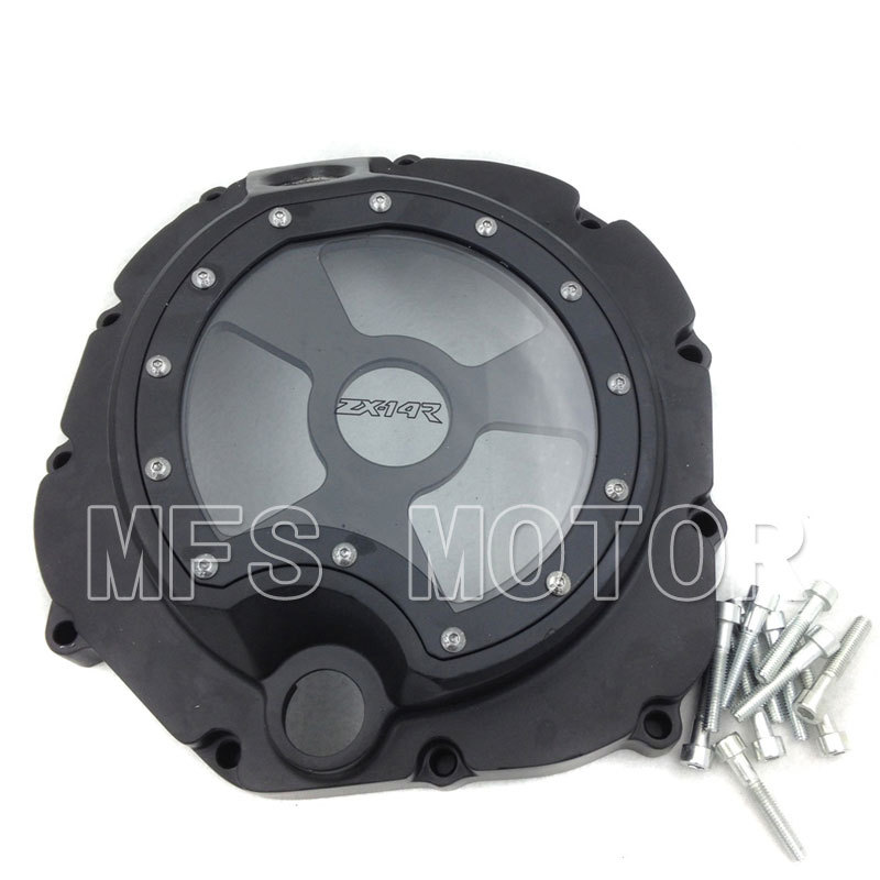 Motorcycle Right Engine Clutch cover see through For Kawasaki ZX14R ZZR1400 2006 2007 2008 2009 2010 2011 2012 2013 Black<br><br>Aliexpress