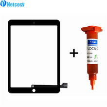 "Netcosy Touch Screen Digitizer Front Touch Panel Glass Lens For ipad pro 9.7"" TouchScreen Replacement Parts +5ml TP-2500 UV Glue"