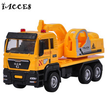 1:55 Alloy Engineering Vehicle Toys Garbage Truck Model Sprinkler Crane Car Mud Transport Fire Engines Boys Girls Toy Gifts