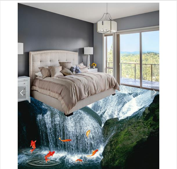 3d wallpaper custom 3d flooring painting wallpaper To stick to draw 3d waterfall floor wall paper 3d living room photo wallpaper<br>