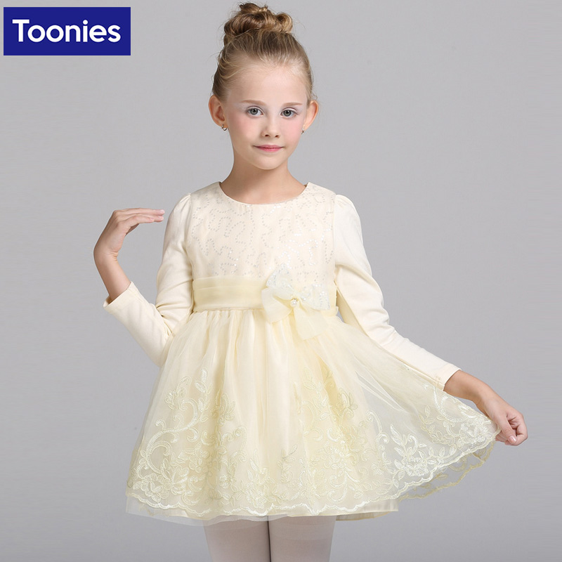 Flower Embroidery Teen Girls Dress Wedding Pageant Party Dresses Holy Princess Clothes Mesh New Year Girl Costume Clothing<br><br>Aliexpress