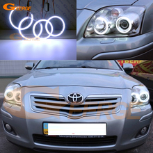 For Toyota Avensis T25 2006 2007 2008 2009 Excellent angel eyes Ultra bright illumination COB led angel eyes kit halo rings