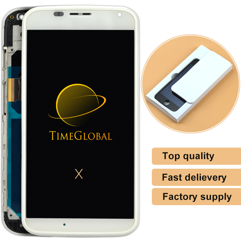 2pcs For motorola Moto X XT1060 XT1058 XT1056 LCD Display With Touch Screen Digitizer Assembly with frame+metal FreeShipp<br><br>Aliexpress