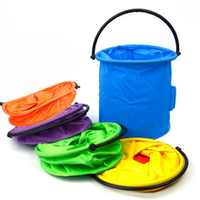 1pc Wash Pen Barrel small Bucket plastic Outdoor Fishing Bucket Art Supplies Painting Tools brush washing color random ACT021(China)