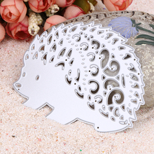 Buy DIY Metal Hedgehog Cutting Dies Stencils Scrapbooking Card Photo Album Party Embossing Decor Paper Card Craft for $1.63 in AliExpress store