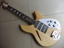 Free Shipping Rick 325 Model Electric guitar 3 pickups natural 330 360 381 wooden 110902(China)