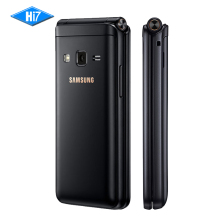 "New Original Samsung Galaxy Folder 2 G1650 Dual SIM 16GB ROM 2GB RAM Quad Core 8.0MP 3.8"" Flip SmartPhone 4G LTE Mobile Phone(China)"