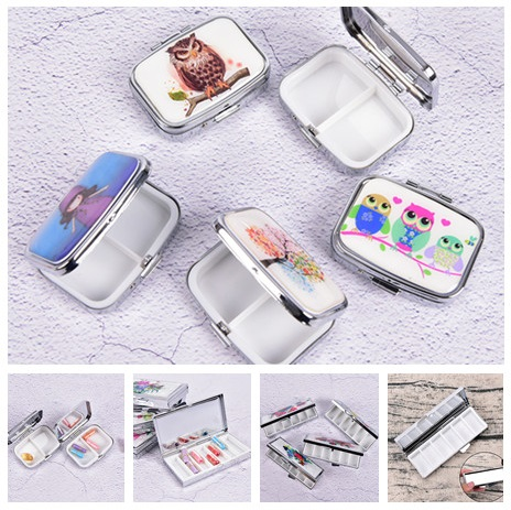 Portable Metal Pill Cutter Folding Medicine Organizer Storage Container Pill Box Case Multi Style