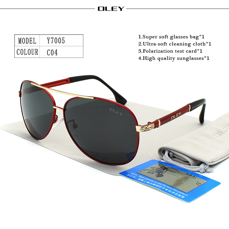 OLEY Luxury sunglasses men polarized Classic pilot Sun glasses fishing Accessories driving goggles gafas de sol zonnebril mannen 11