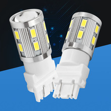 2pcs 3157 3156 car light Source 16 SMD 5630 LED P27/7W High Power P27W led car bulbs Brake Lights Red Parking white yellow amber