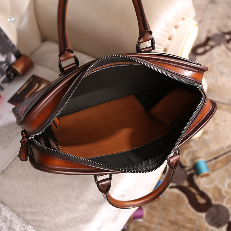 ... wholesale luxury designer handbag custom men `s leather briefcase  portfolios Laptop Bags ... d52a0fa8c3
