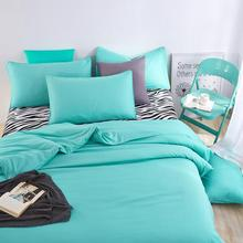 Home textiles 4pcs bedding sets include duvet cover bed sheet pillowcase queen king twin size bed linens green color brief style