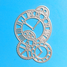 YLCD773 Clock Metal Cutting Dies For Scrapbooking Stencils DIY Album Paper Cards Decoration Embossing Folder Die Cutter Tools