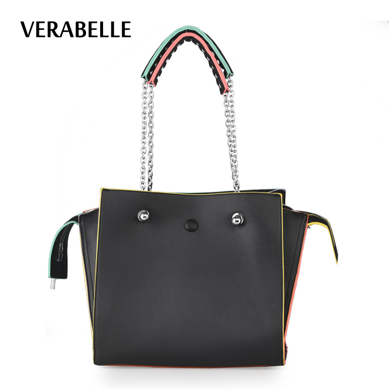 VERABELLE 2017 new Large Capacity Womens Ladies Casual Daily Purse Smiling Face chain strap Shoulder Tote Shopper Handbag<br>