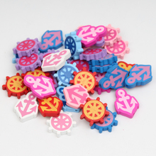 WD039(50), Rudder & Sea Steering Wheels Anchors Wooden Beads Spacer Beading Wood Beads For Jewelry Making DIY Baby Kids Toys(China)