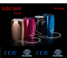 portable FM radio digital amplifier mini speaker ,Hifi stereo SD /TF Card speaker mp3 /4 player sound box(China)