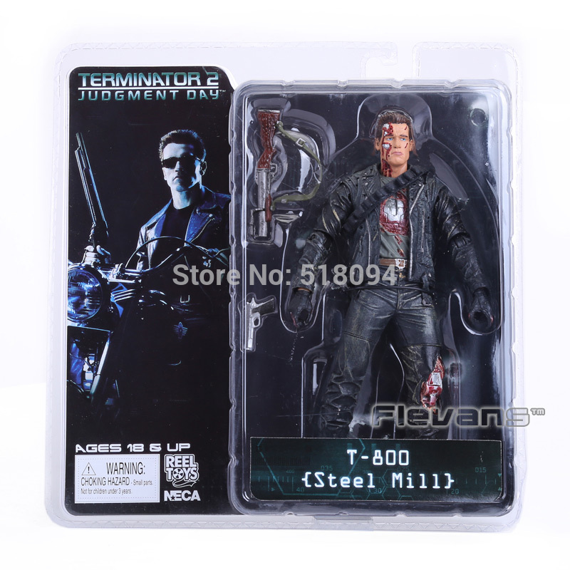 Free Shipping NECA The Terminator 2 Action Figure T-800 T-800 Steel Mill PVC Figure Toy 7 18cm<br><br>Aliexpress