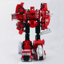 2 in 1 Red Transformation Engineering Car Toy Robots Alloy Machine Model Toy Assembly Robot Excavator Construction Vehicle Truck