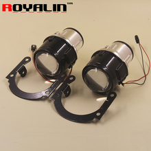 2.5 Bi-xenon Fog Light Projector Lens H8 H9 H11 Full Metal for Mostly Auto Lights Retrofit Driving Lamps Front Bumper Lamps DIY
