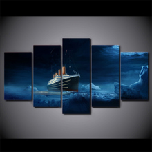5 Pcs/Set Framed HD Printed Titanic Iceberg Wall Canvas Art Modern Print Painting Poster Picture For Home Decor