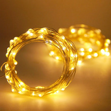 2x3M 30 LED 3AA battery operated copper wire rice mini lights warm white Christmas holiday party wedding decorative string light(China)