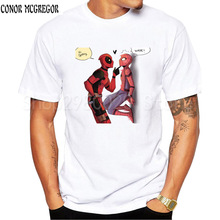 MOE CERF nuevos hombres Deadpool camiseta hombres Marvel superhéroe Deadpool Tops divertido Hipster Cool Anime Tops L1-M-2(China)