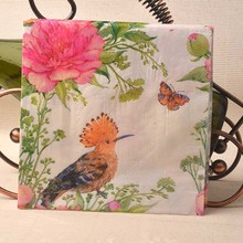 Table napkins paper tissue printed pink flower butterfly bird thrush decoupage wedding serviette party cocktail home decor mats