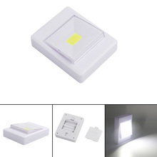 COB LED Portable Lantern Night Light Camping Lamp Operated with Switch Magic Tape For Indoor Closet Power by  4*AAA Battery