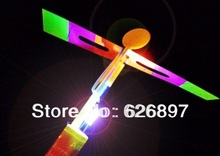Free Shipping 10pcs /lot  Fun LED Flying Kids Toys Novelty Helicopter Arrow Aircraft  Birthday Christmas Gifts