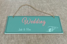 Personalized Outdoor Wedding Reception & Ceremony Decoration Directional Signs wedding sign board  Spring green SB008H