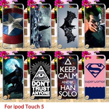Soft TPU Cases For Apple iPod Touch 5 5th 5G touch5 Case Comic Hero Hard Cell Phone Cover Housings Bags Sheaths Skins Hoods
