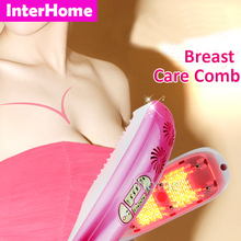 Breast Health Care Comb Beauty Equipment 633nm red light Uplift and Tighten Breasts Dissipate Breast Lumps Avoid Breast cancer(China)