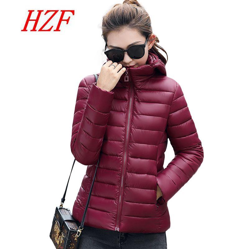 HZF Plus Size Women Short Parkas 2017 New Ultra Light Winter Down Jacket Coat Female Padded Cotton Parkas Basic JacketsCoatsÎäåæäà è àêñåññóàðû<br><br>
