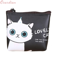Buy 2017 Women Girls Wallet Cute Cat Fashion Coin Purse Wallet Bag Change Pouch Key Holder Drop Billetera Carteira17Apr28 for $1.06 in AliExpress store