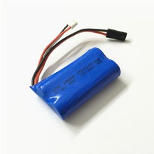 RC Drone Lipo Battery 7.4 V 2S 2500 mah JST Li-po battery For MJX F45 DH 9053 9101 F45 9118 RC Helicopter Toy Car Parts(China)